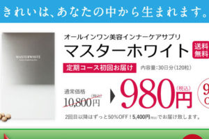 マスターホワイト 通販は公式サイトが最安値!980円で送料無料